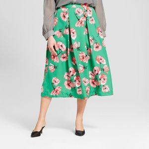 Who What Wear Tulip Midi Skirt